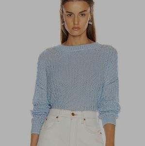 H&M Baby Blue Balloon Sleeves Knitted Sweater M
